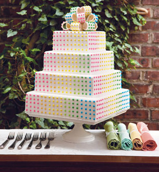 Cake Design And Sweet Expo Zurich : Event FYI Candy Dot Cake - Pauleenanne Design