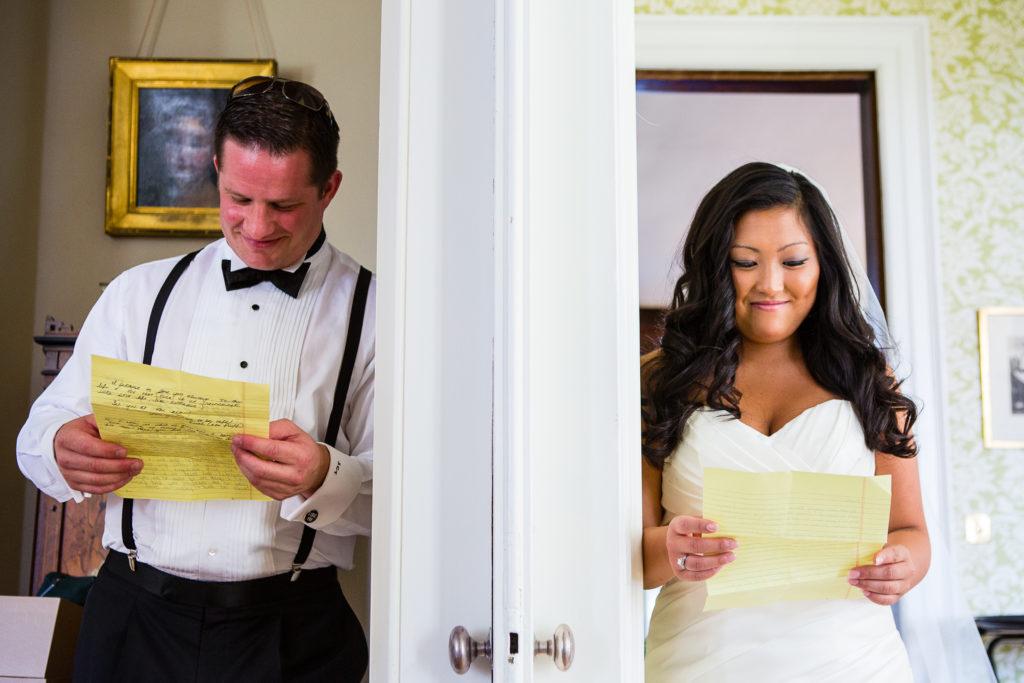 Wedding Note Reading