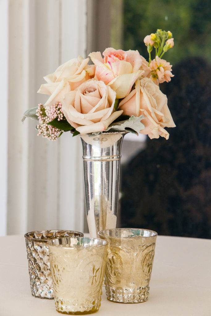 Blush Cocktail Table Centerpiece